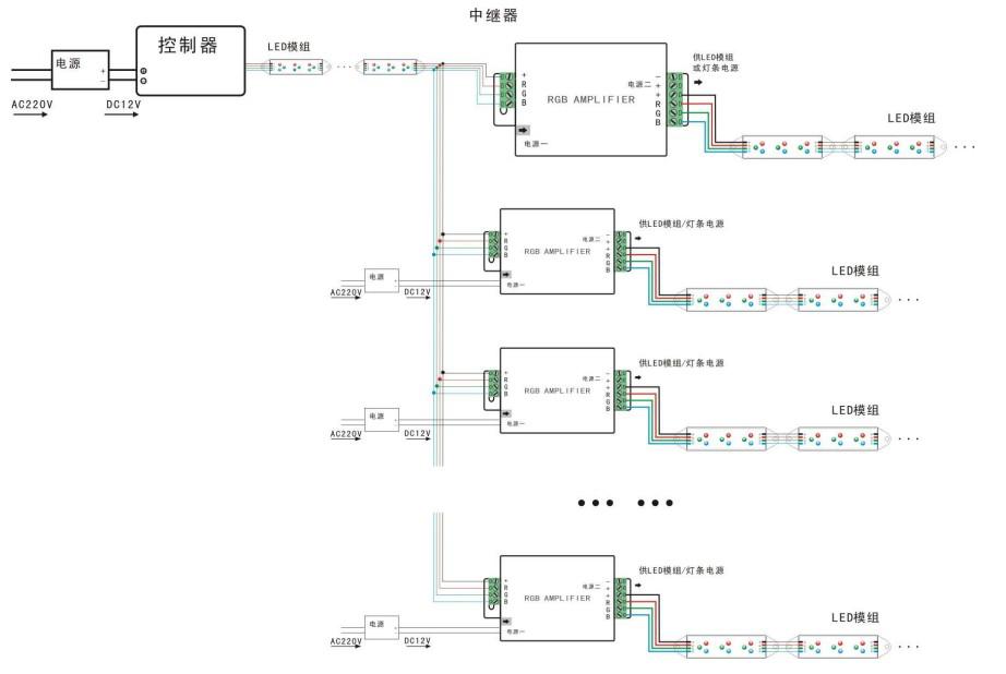 串联灯回路接线图
